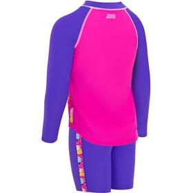 Zoggs Pine Crush Sun Protection Set Girls pink